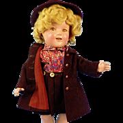 "18"" Compo Shirley Temple, Huge Wardrobe"