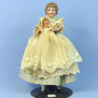 Nursemaid & Baby Dollhouse Dolls