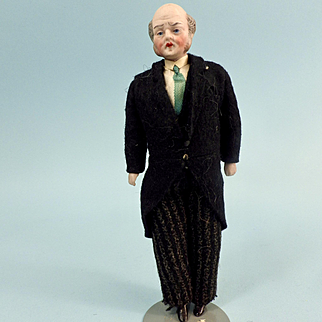 Elderly Dollhouse Man, All Original