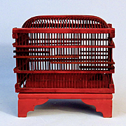Red Lacquer Japan Cricket Cage