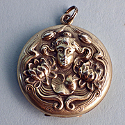 Sterling Art Nouveau Nymph Locket