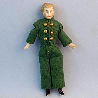Dollhouse Footman, All Original, Mustache