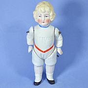 German Boy Doll, Molded Rompers