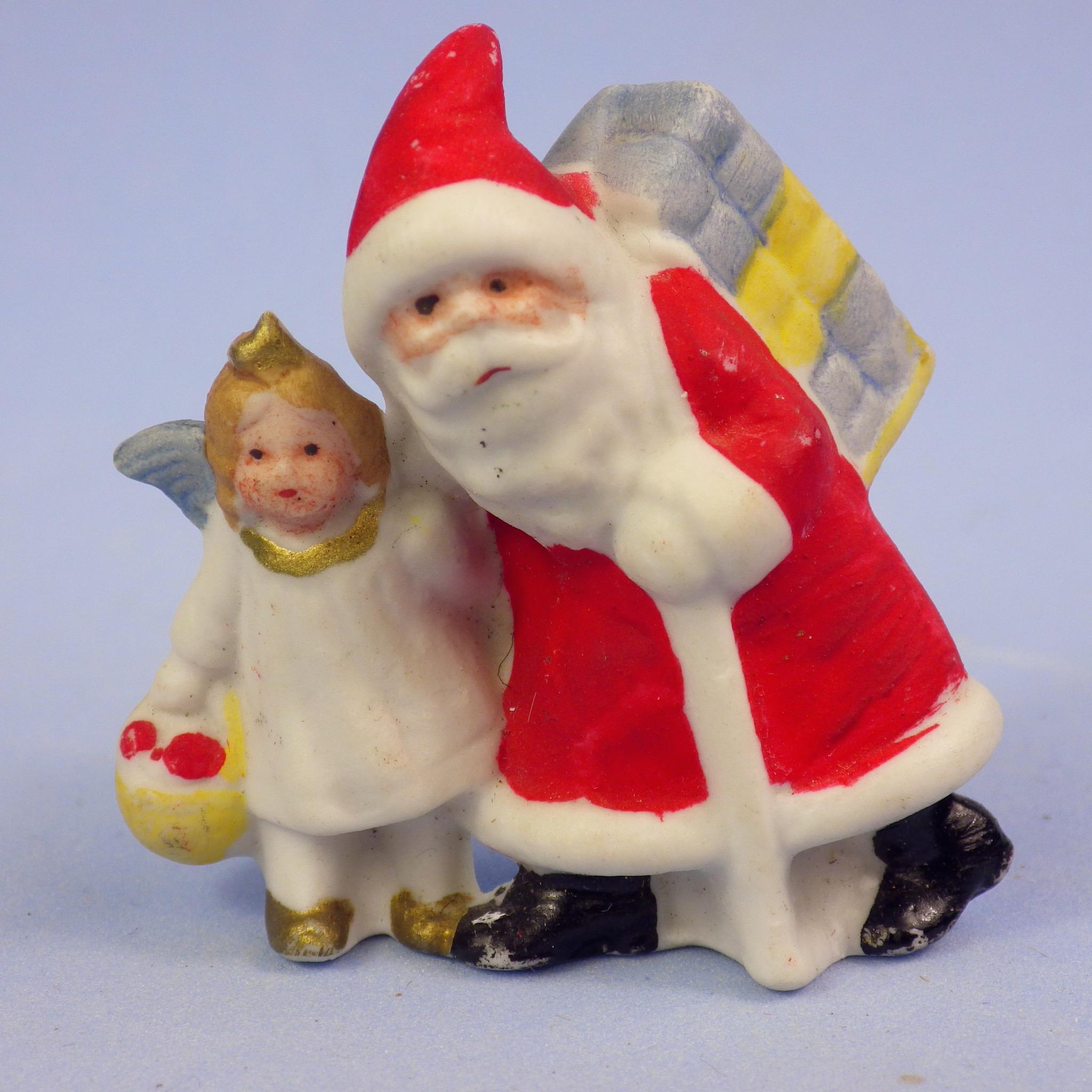 German Snowbaby Santa and Christmas Fairy, Tiny and Detailed