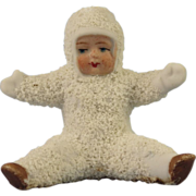 Early German Bisque Seated Snow Baby