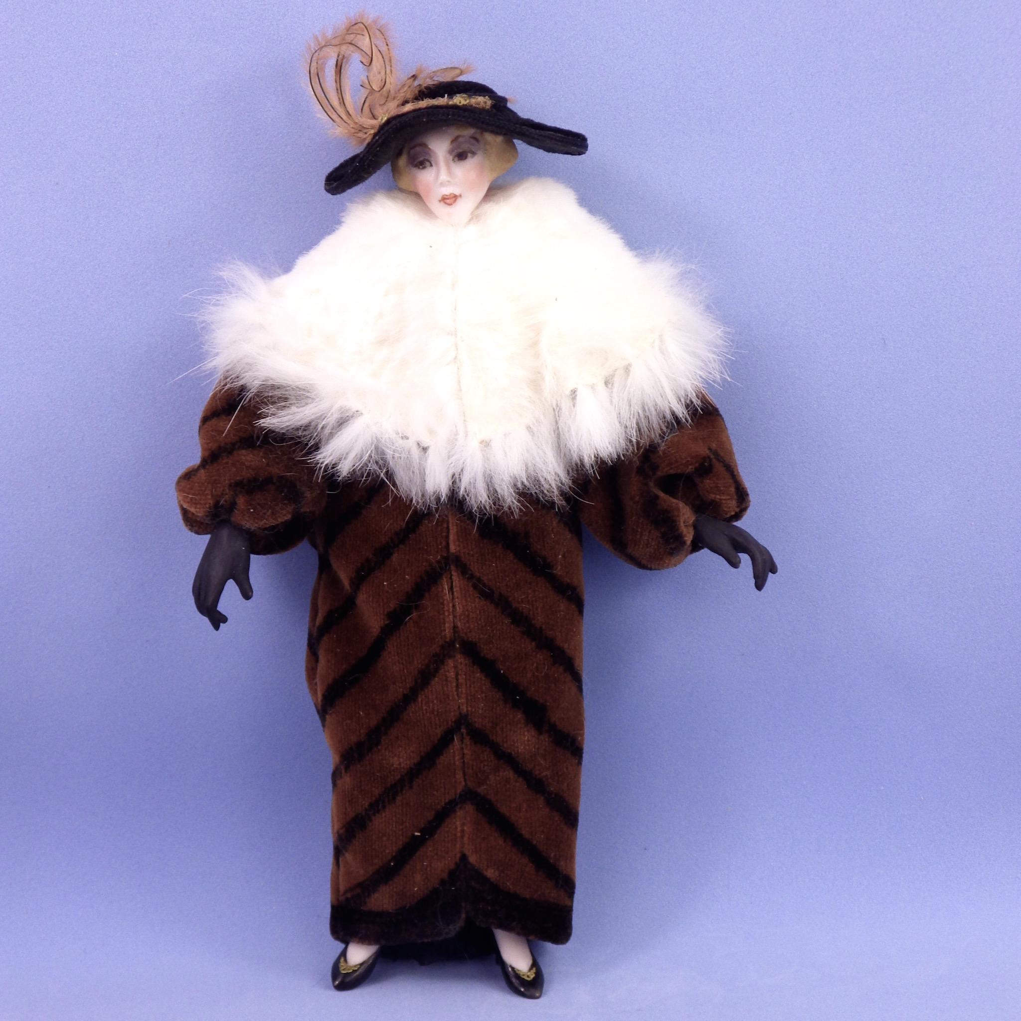 Stunning Artist Dollhouse Doll of Elegant Edwardian Woman