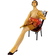 Swivel Waist Seated  Flapper Composition Boudoir Doll Mannequin