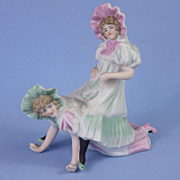 Rare Naughty German Bisque Figurine of Barrison Sisters