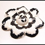 Big Bold Beautiful Vintage Paper Mache Flower Brooch