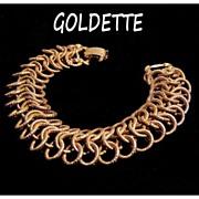 Goldette Gold tone Link Bracelet