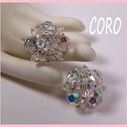Coro Aurora Borealis Crystal Earrings