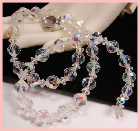 Aurora Borealis Crystal Necklace TLC