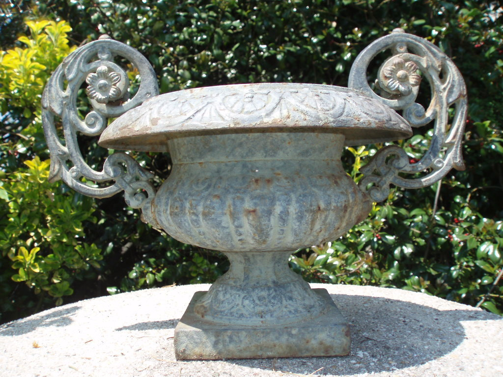 Antique cast iron garden planters garden designs incredible vintage ornate cast iron urn planter with elaborate sold workwithnaturefo