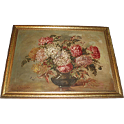 Beautiful Early 20th Century Floral Oil Painting, Signed