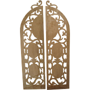 Antique Decorative Architectural Hand Cut Wood Arches From a Monastery