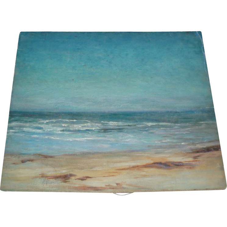 Exceptional Old Seascape Oil Painting, Signed
