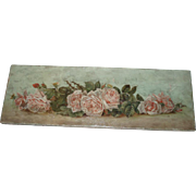 Beautiful Antique Pink Roses Yardlong Oil Painting