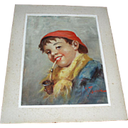 Antique Portrait of a Boy Oil Painting