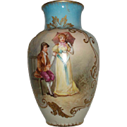 Exquisite Dubois Figural Antique French Limoges Porcelain Vase