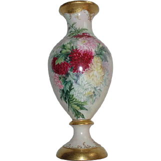 Museum Quality 24-1/2 Inch French Limoges Porcelain Palace Urn Vase