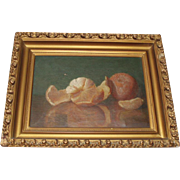 Beautiful Antique Still Life Oil Painting of Oranges, Fruit