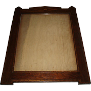 Fine Quality Large Vintage Inlaid Wood Picture Frame