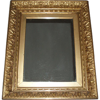 Gorgeous Ornate Antique Gesso Framed Mirror