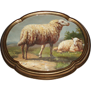 Fine Antique Oil Painting of Sheep - Red Tag Sale Item