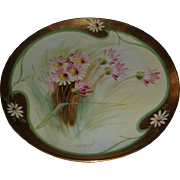 Lovely Antique French Haviland Limoges Porcelain Plate Pickard Decorated Signed