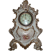 Beautiful Massive Antique French Limoges Porcelain Clock