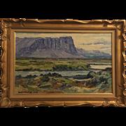 Petur Fridrik Iceland Landscape Painting 1972