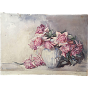 Harriet Webster Fowler Victorian Roses Painting 1892 - Outstanding