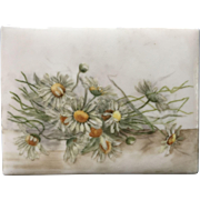 Antique French Limoges Porcelain Plaque of Daisies