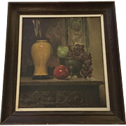 David Cunningham Lithgow (1868-1958) Still Life Oil Painting Vintage