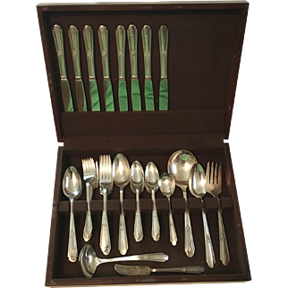 William Rogers Silverplate Flatware Set, Service 8+, 55 Pieces, Vintage