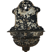 19TH Century Cast Iron Lavabo Original Chippy Paint