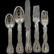 "French Puiforcat sterling flatware set ""Royal"" pattern"