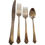 Damask Rose by Oneida Sterling Silver Flatware Set For 12 Service 52 Pieces