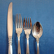 Chantilly by Gorham Sterling Silver Flatware Set Service 48 Pieces