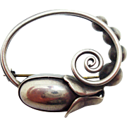 Georg Jensen Sterling USA Hand Wrought Pin #111