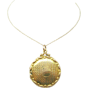 Large Locket with 9 Karat Yellow Gold