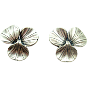 La Paglia International Sterling Leaf Earrings