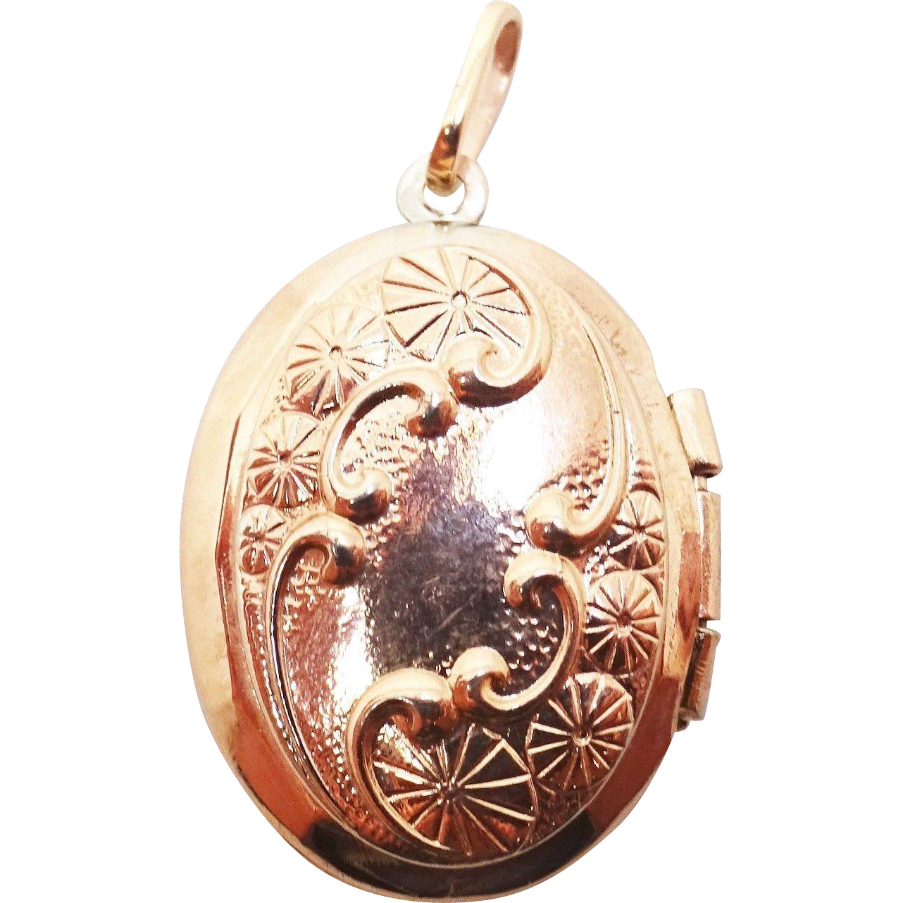 12 Karat Rose Gold Filled Oval Locket