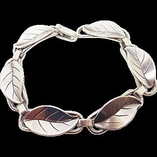 La Paglia Sterling Silver Leaf Bracelet #211