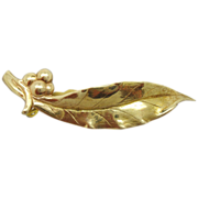14 Karat Tiffany Leaf Brooch