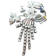 Gorgeous 18 Karat White Gold Diamond Pin 2 Carats