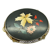 Pietra Dura Pin with Filigree Frame