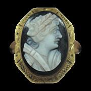 10 Karat Stone Cameo Ring