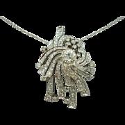 18 Karat 2.10 Carat Diamond Pin/Pendant