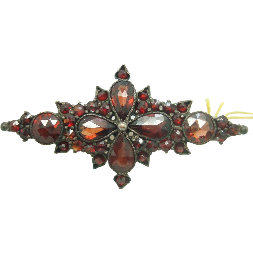 Genuine Natural Bohemian Garnet Brooch